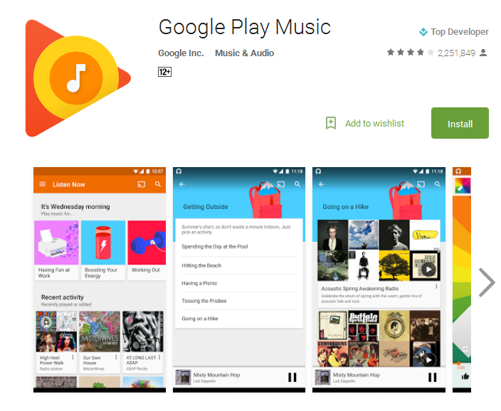 Google Play Music free play music