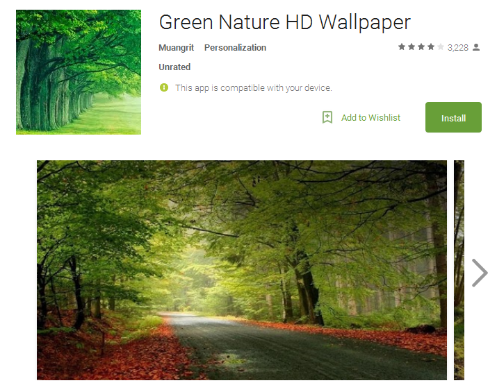Green Nature HD Wallpaper Android Apps