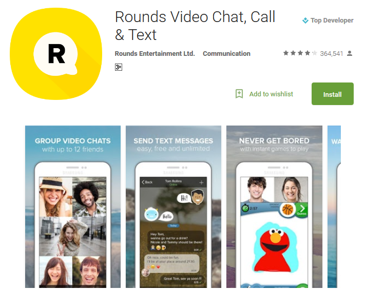 Rounds Video Chat Call Text