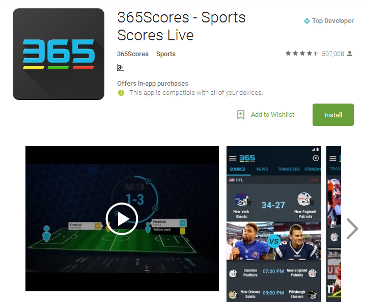 365Scores Sports Scores Live Android Apps