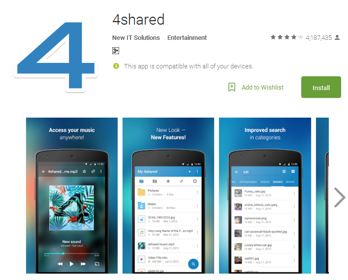 4shared Android Apps