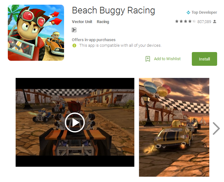 Beach Buggy Racing Android Apps