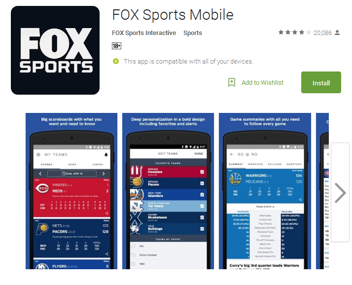 FOX Sports Mobile Android Apps