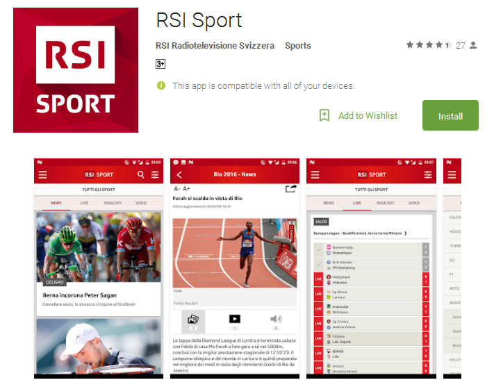 RSI Sport Android Apps