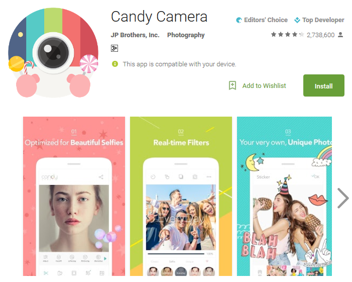 Candy Camera Android Apps