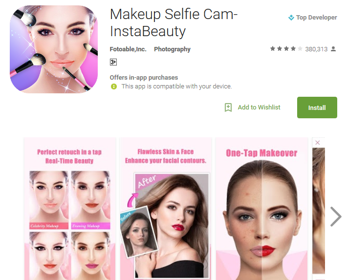 Makeup Selfie InstaBeauty Android Apps