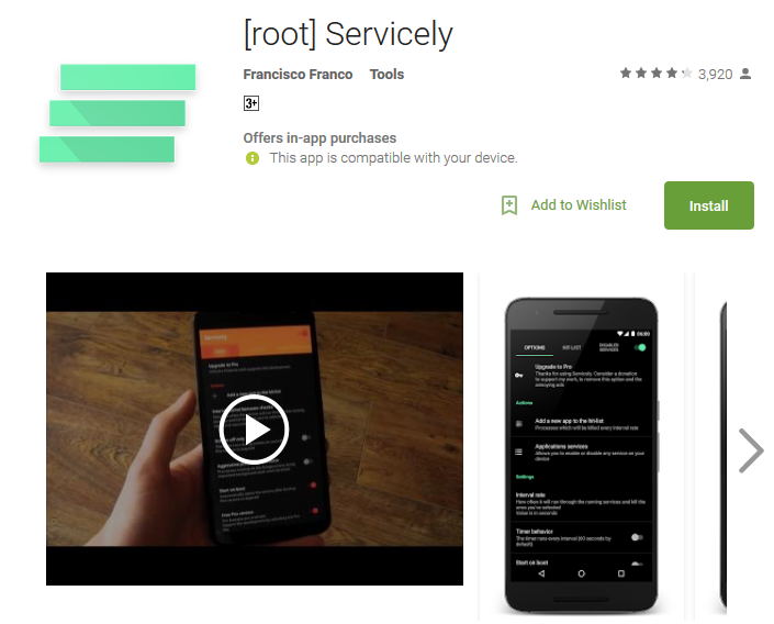 root Servicely Android Apps