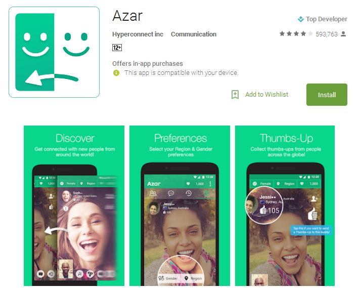Azar Android Apps