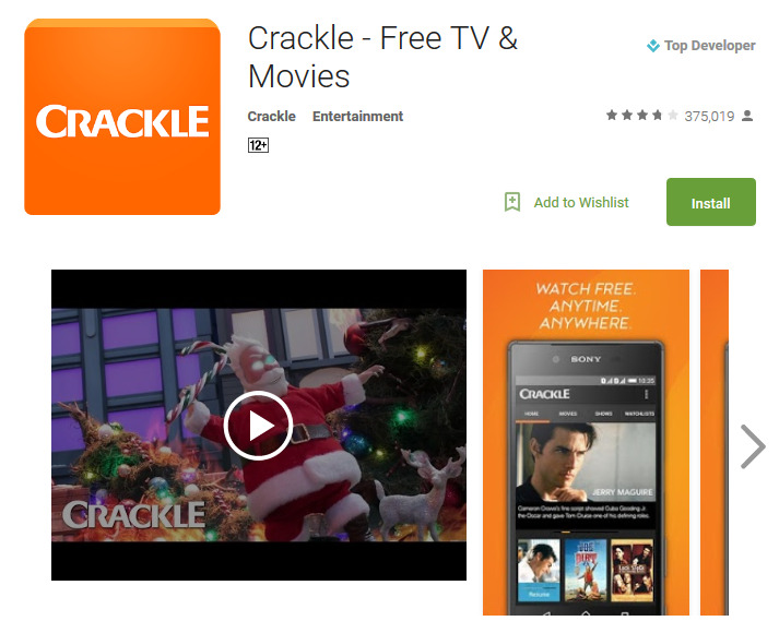 Crackle Free TV Movies app