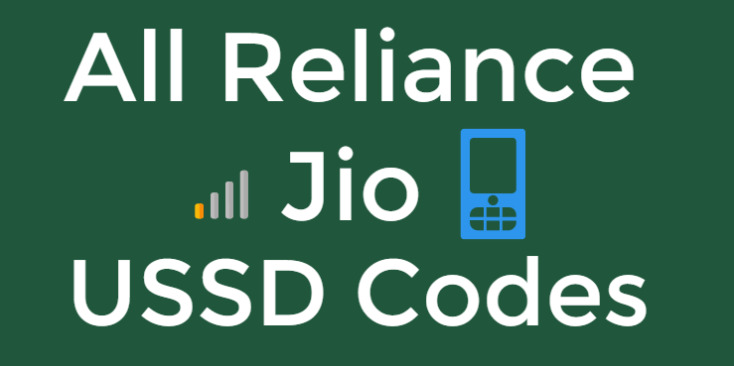 All jio ussd codes